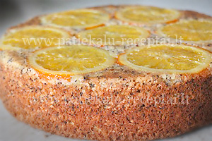 apelsininis tortas su aguonomis 1