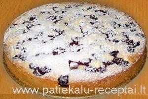 biskvitinis pyragas su vysniomis 2
