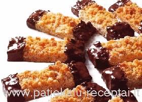 imbieriniai sausainiai su sokoladu