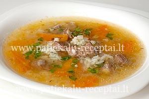 jautienos sriuba su ryziais
