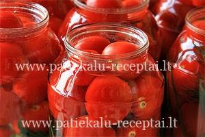 konservuoti pomidorai