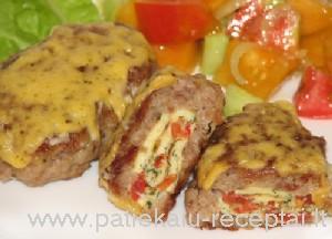 kotletai su omleto suktinukais