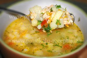 lasisos sriuba su ziediniais kopustais