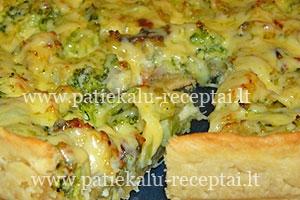 pyragas su brokoliais ir zuvimi