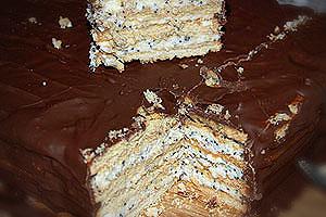 pyragas su sausainiais ir varske