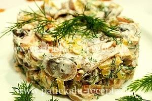 rukytos vistienos salotos su grybais