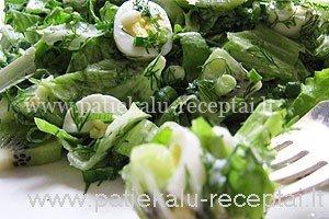 salotos su putpeliu kiausiniais