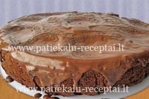 sokoladinis pyragas su varskes rutuliukais 2