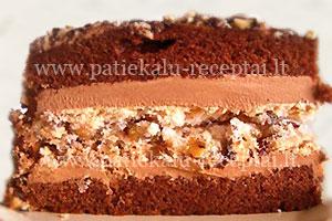 sokoladinis tortas su morengais