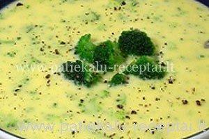 surio sriuba su brokoliais