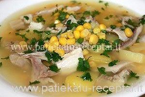 tirsta vistienos sriuba su kukuruzais