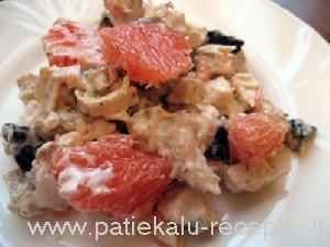 vistienos salotos su greipfrutais